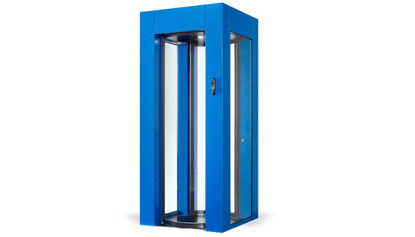 E1 compact automatic squared security door 90x90