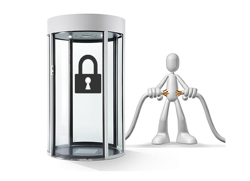 fail secure door cylindrical