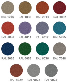 Available Pearl colours for automatic security doors